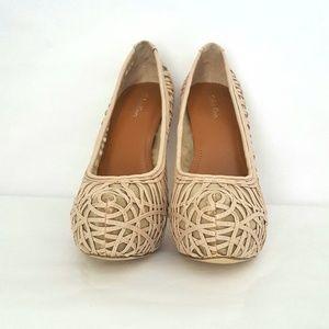 Calvin Klein Cream Platform Heels
